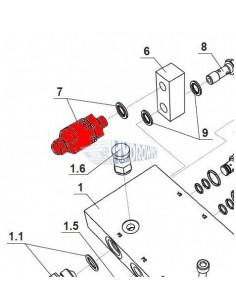 4051496H Zatyczka ramy Dhollandia fi 100x100 mm M0496